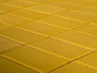 Тротуарная плитка Braer прямоугольник желтый 200х100х40