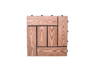 Садовый паркет CM Decking 30*30мм, серия NATUR (текстура дерева) красный