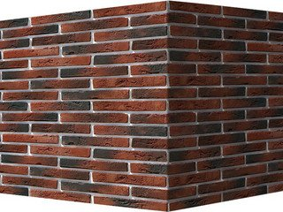 "380-75 White Hills ""Остия Брик"" (Ostia Brick), красный, угловой, Нормативная ширина шва 1,2 см."