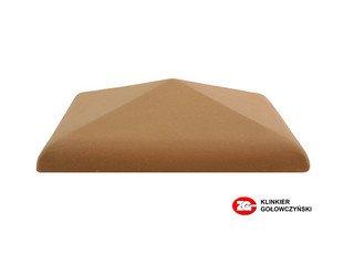 Колпак для забора ZG Clinker клинкерный керамический 425х425 красный