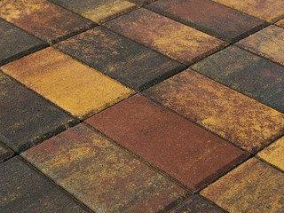 Тротуарная плитка BRAER Прямоугольник Color Mix Мальва, 40 мм