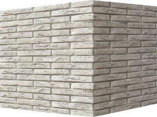"380-05 White Hills ""Остия Брик"" (Ostia Brick), белый, угловой, Нормативная ширина шва 1,2 см."