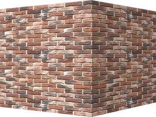 "306-75 White Hills ""Бремен брик"" (Bremen brick), красно-коричневый, угловой, Нормативная ширина шва"