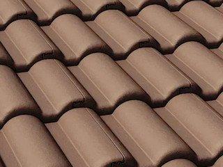 Цементно-песчаная черепица рядовая BRAAS Таунус, тёмно-коричневый