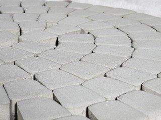 Тротуарная плитка BRAER Классико круговая, Color Mix Серебристый