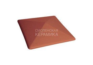 Керамическая шляпа King Klinker 310х310 рубиновый красный 1