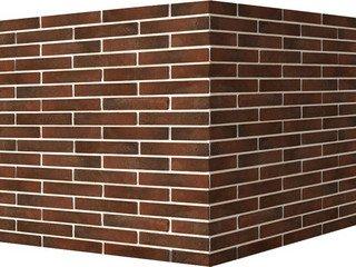 "351-45 White Hills ""Терамо брик"" (Teramo brick), темно-коричневый, угловой, Нормативная ширина шва 1"