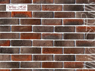 "321-40 White Hills ""Кельн брик"" (Cologne brick), темно-коричневый, плоскостной, Нормативная ширина ш"