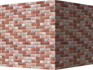 "302-75 White Hills ""Лондон брик"" (London brick), красно-белый, угловой, Нормативная ширина шва 1,2 с"