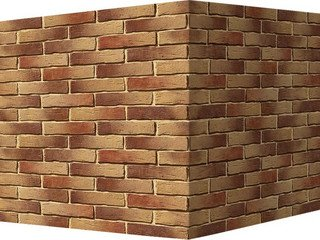 "375-65 White Hills ""Сити Брик"" (Сity brick), медный, угловой, Нормативная ширина шва 1,2 см."