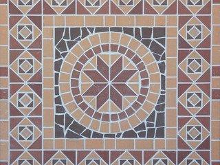 Square/Квадрат мозаика клинкерная (на сетке) Ecoclinker