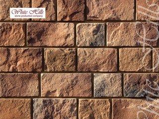 "412-90 White Hills ""Шинон"" (Chinon), коричневый, плоскостной, Нормативная ширина шва 1,5 см."