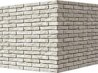 "300-05 White Hills ""Лондон брик"" (London brick), белый, угловой, Нормативная ширина шва 1,2 см."