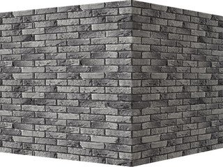 "307-85 White Hills ""Бремен брик"" (Bremen brick), серый, угловой, Нормативная ширина шва 1,2 см."