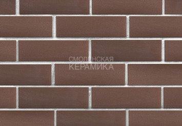 Клинкер фасадный ЛСР «Мюнхен» коричневый гладкий 2