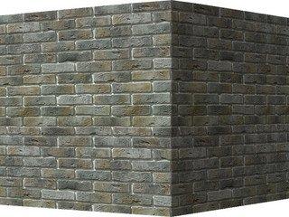 "300-85 White Hills ""Лондон брик"" (London brick), серый, угловой, Нормативная ширина шва 1,2 см."