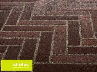 Клинкерная тротуарная плитка Stroher SPALTKLINKER Ригель 212 BRAUN-BUNT
