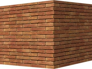 "300-65 White Hills ""Лондон брик"" (London brick), медный, угловой, Нормативная ширина шва 1,2 см."