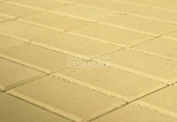 Тротуарная плитка BRAER Прямоугольник Песочный, 40 мм 1