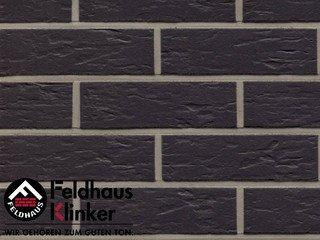 Фасадная плитка Feldhaus Klinker R740NF14 anthracit senso