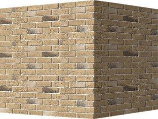 "320-25 White Hills ""Кельн брик"" (Cologne brick), песочный, угловой, Нормативная ширина шва 1,2 см."