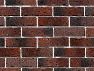 """376-40 White Hills """"Сити Брик"""" (Сity brick), темно-коричневый, плоскостной, Нормативная ширина шва 1"""