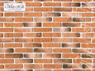 "336-50 White Hills ""Йорк брик"" (York brick), темно-оранжевый, плоскостной, Нормативная ширина шва 1"