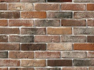 """303-90 Декоративный камень White Hills """"Лондон брик"""" (London brick), коричневый, плоскостной, Нормат"""