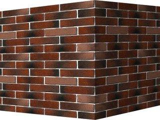 "375-75 White Hills ""Сити Брик"" (Сity brick), красный, угловой, Нормативная ширина шва 1,2 см."