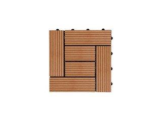 Садовый паркет CM Decking 30*30мм, серия CLASSIC (широкие полоски) красный