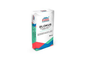 Клеевая смесь для газоблоков PEREL Blokus 0318 серая, 25 кг 1