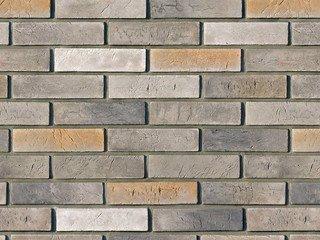 "350-80 White Hills ""Терамо брик"" (Teramo brick), серый, плоскостной, Нормативная ширина шва 1,2 см."