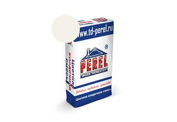 Цветная кладочная смесь Perel NL 5101 супер-белая, 51 кг 1
