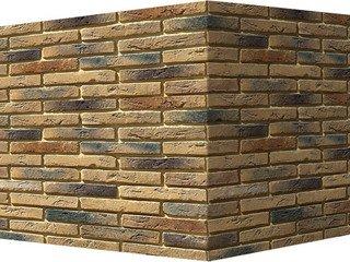 "380-45 White Hills ""Остия Брик"" (Ostia Brick), коричневый, угловой, Нормативная ширина шва 1,2 см."