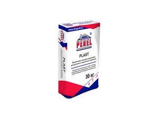 Пластичная, трещиноустойчивая гипсовая штукатурка Perel Plaster 0521, 30 кг (ручн. и маш. нанесение)