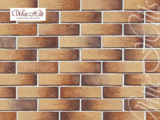 "364-40 White Hills ""Терамо брик II"" (Teramo brick II), коричневый, плоскостной, Нормативная ширина ш"