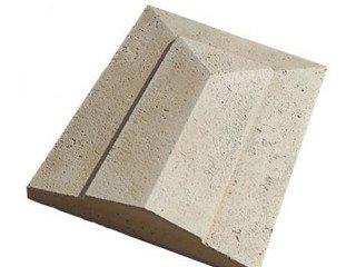 """912-20 Накрывочная плита трехскатная """"Тиволи"""", 32*50, песочный"""