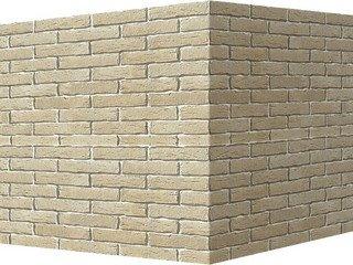"375-15 White Hills ""Сити Брик"" (Сity brick), бежевый, угловой, Нормативная ширина шва 1,2 см."