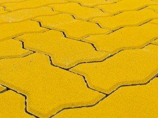 Тротуарная плитка Braer волна желтый 240х135х70