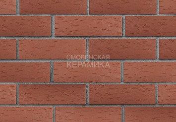 Клинкер фасадный ЛСР «Эдинбург» темно-красный береста 1