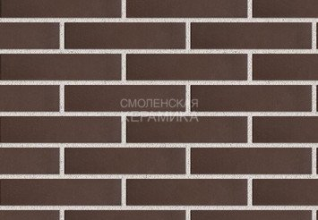 Клинкер фасадный ЛСР «Мюнхен» коричневый гладкий 1
