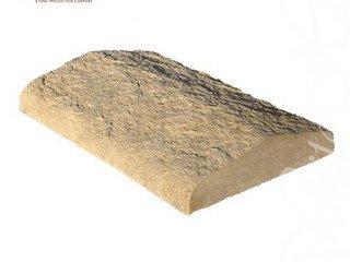 811-40 Накрывочная плита двухскатная, 35*25, темно-коричневый