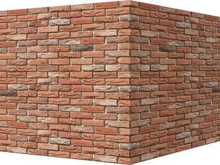 "305-55 White Hills ""Бремен брик"" (Bremen brick), оранжевый, угловой, Нормативная ширина шва 1,2 см."