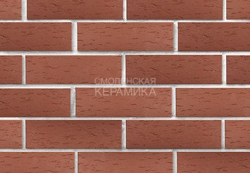 Клинкер фасадный ЛСР «Эдинбург» темно-красный береста 2