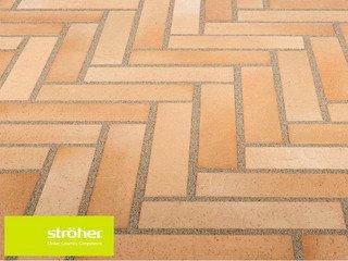 Клинкерная тротуарная плитка Stroher SPALTKLINKER Ригель 123 BEIGE-BUNT