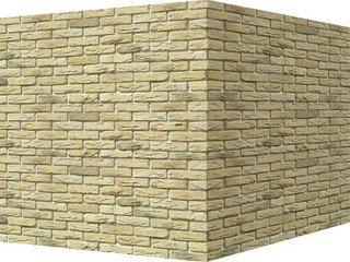 "305-35 White Hills ""Бремен брик"" (Bremen brick), желтый, угловой, Нормативная ширина шва 1,2 см."