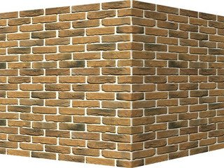 "307-45 White Hills ""Бремен брик"" (Bremen brick), коричнево-черный, угловой, Нормативная ширина шва 1"
