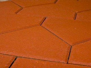 Тротуарная плитка Braer тиара красный 283х200х60