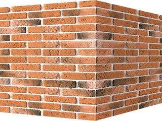 "336-55 White Hills ""Йорк брик"" (York brick), темно-оранжевый, угловой, Нормативная ширина шва 1 см."