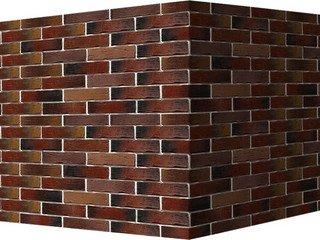 "378-75 White Hills ""Сити Брик"" (Сity brick), коричнево-медный, угловой, Нормативная ширина шва 1,2 с"